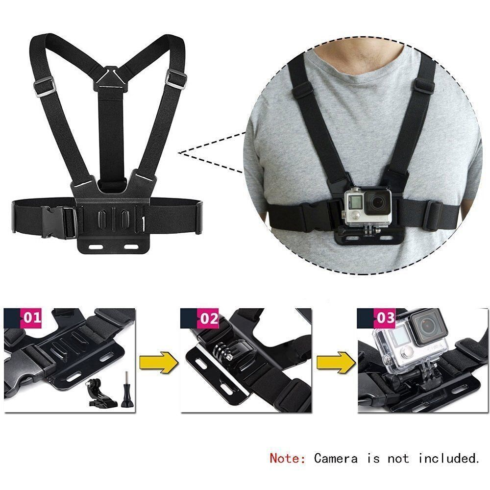 Chest Strap Mount Belt for Gopro Hero 9 8 7 6 5 Xiaomi Yi 4K SJCAM SJ4000 Action Camera Gopro Accessories Chest Mount Harness-4