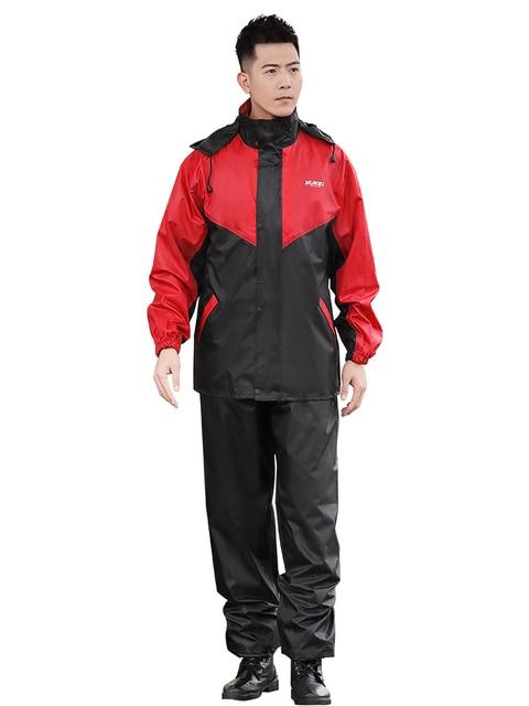 Nylon Electric Motorcycle Raincoat Rain Pants Suit Rain Coat Jacket Adult Rain Suit Men Thicken Double Casaco Masculino Gift