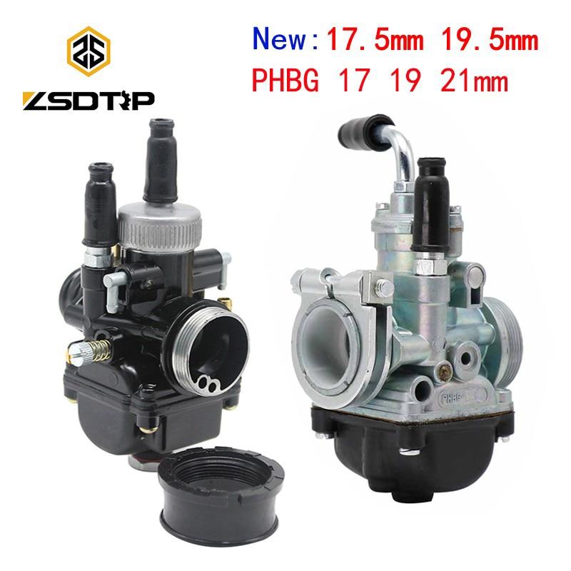 ZSDTRP 17mm 19mm 21mm 2T Dellorto PHBG DS Black Carburetor PHBG Carb DIO JOG 50cc 90cc RG50 BWS100 For Puch Yamaha Zuma