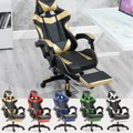 5 kleuren PU Leer Racing Gaming Stoel Kantoor Hoge Rug Ergonomische Fauteuil Met Voetensteun Professionele Computer Stoel Meubels