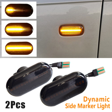 2Pcs Led Dynamische Side Marker Turn Signal Repeater Licht Indicator Vloeiende Flash Fit Voor Renault Twingo I (C06 _)
