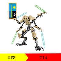Figuras Star Wars Grievous KSZ714 Generais Rebeldes do Robô Blocos de Construção de Tijolos legoinglys Starwars Crianças Presentes Brinquedos