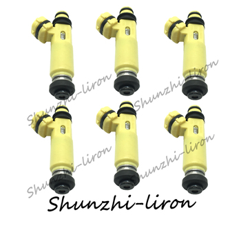 6pcs OEM:195500-4450 1955004450 fuel injector For 425cc Mazda RX8 MX5 E85  297-0041 2970041