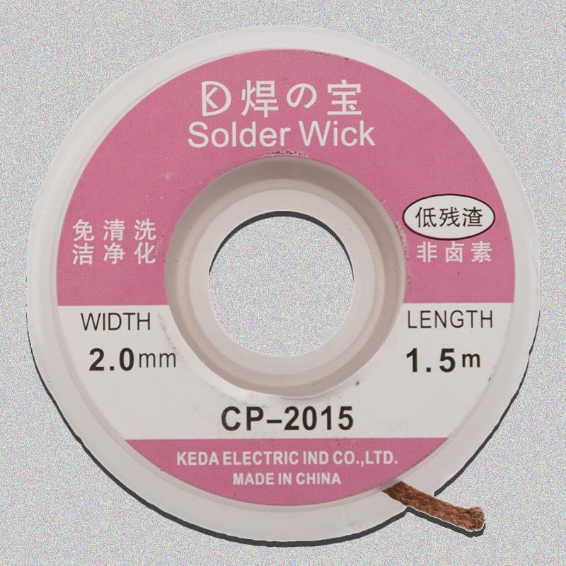 5ft/1.5M 2.0mm Desoldering Braid Solder Remover Wick