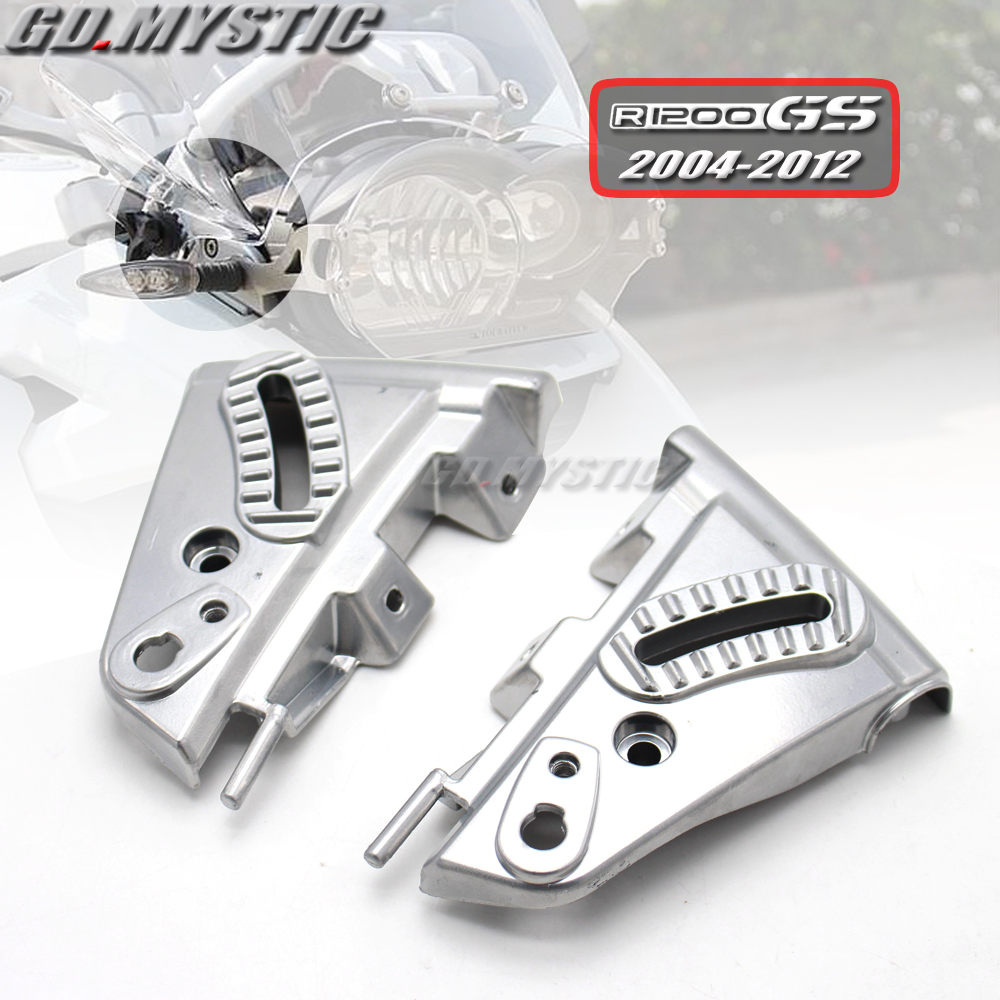 for BMW <font><b>R1200GS</b></font> GS1200 04-12 R 1200 GS R1200 GS 2004 - 2012 <font><b>2011</b></font> Motorcycle Windshield WindScreen Mounting Cover Kit Aluminum image