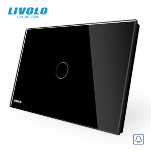 Image 2 - Livolo Muur Schakelaar, Deurbel Ring Switch, Glass Panel, Us Standard Touch Screen Lichtschakelaar, met Led Indicator