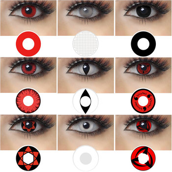 MAGISTER Halloween Contact Lenses 2pcs/Pair Yearly Disposable Soft Lenses Colored Lenses For Cosplay Anime Eyes