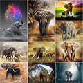 Sale DIY 5D Diamond Painting Animals Baby Elephant Cross Stitch Kit Full Drill Embroidery Mosaic Art Picture of Rhinestones Gift