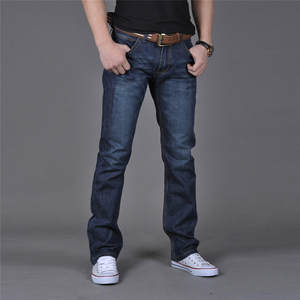 Jeans Pants Trousers Slim-Fit Classic Elasticity Skinny Male Designer Straight Casual