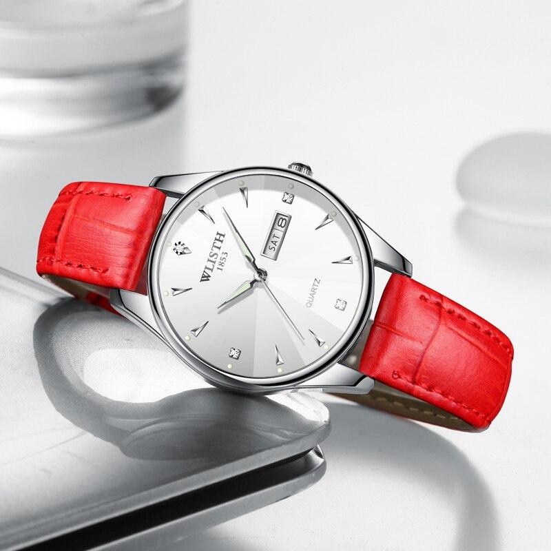 Часы WLISTH женские кварцевые, модные водонепроницаемые светящиеся с окошком и датой, 2020