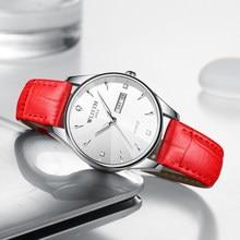 Wlisth relógios de moda feminina relógio 2020 à prova dwaterproof água luminosa janela data relógios de quartzo feminino