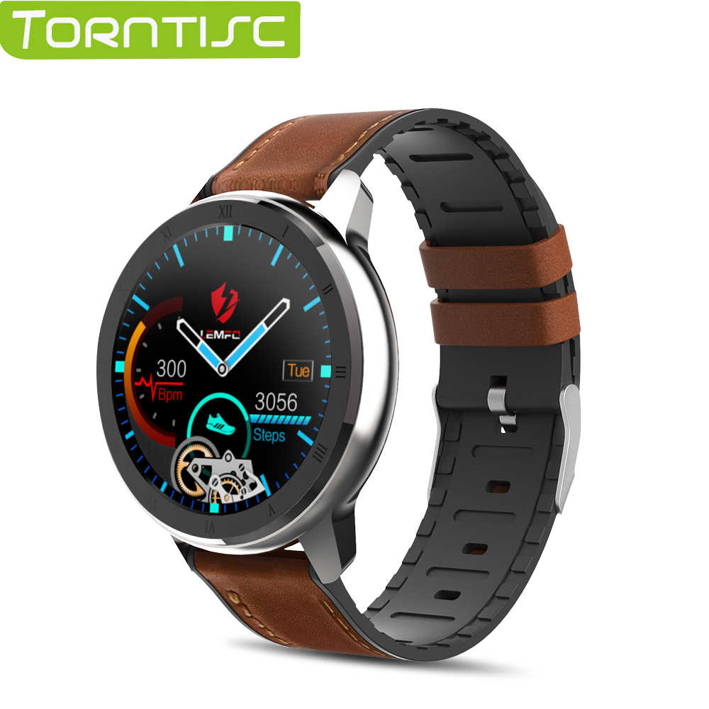 Torntisc ELF2 PPG + ECG Smart Watch 1.3 Inch Full Round Touch Screen 360*360 HD Resolution Stainless Steel Case Strap For Men