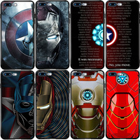 Capa para iphone oneplus 5S se 2020 6s 7 8 6t 8t plus xs xr 11 12 pro mini max superheros arco reator