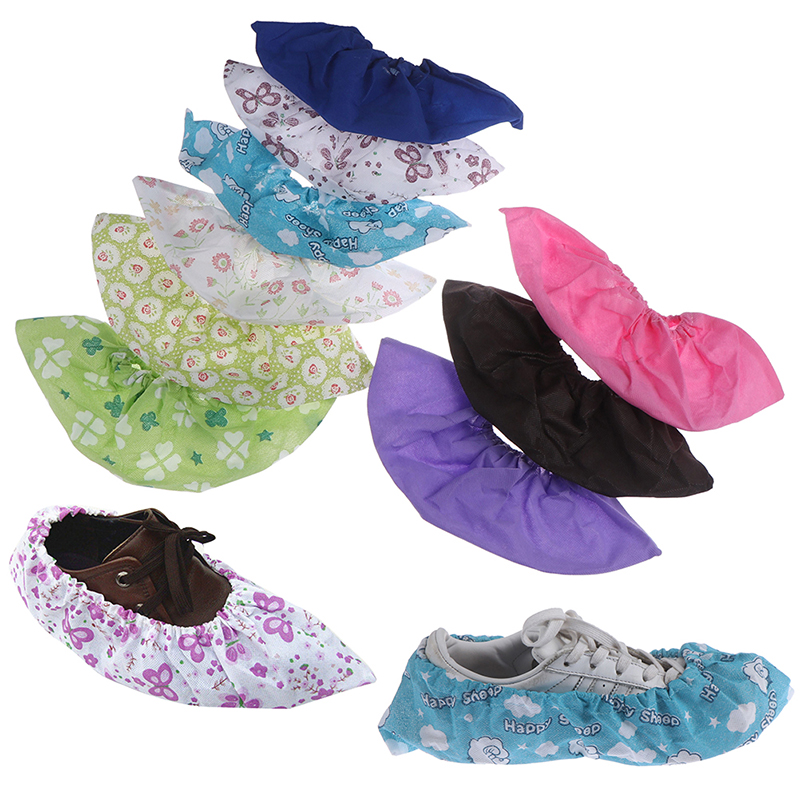 1Pair Reusable Thicken Elastic Shoe Cover Home Indoor Antiskid Overshoes Student Machine Room Dust Proof Feet Covers