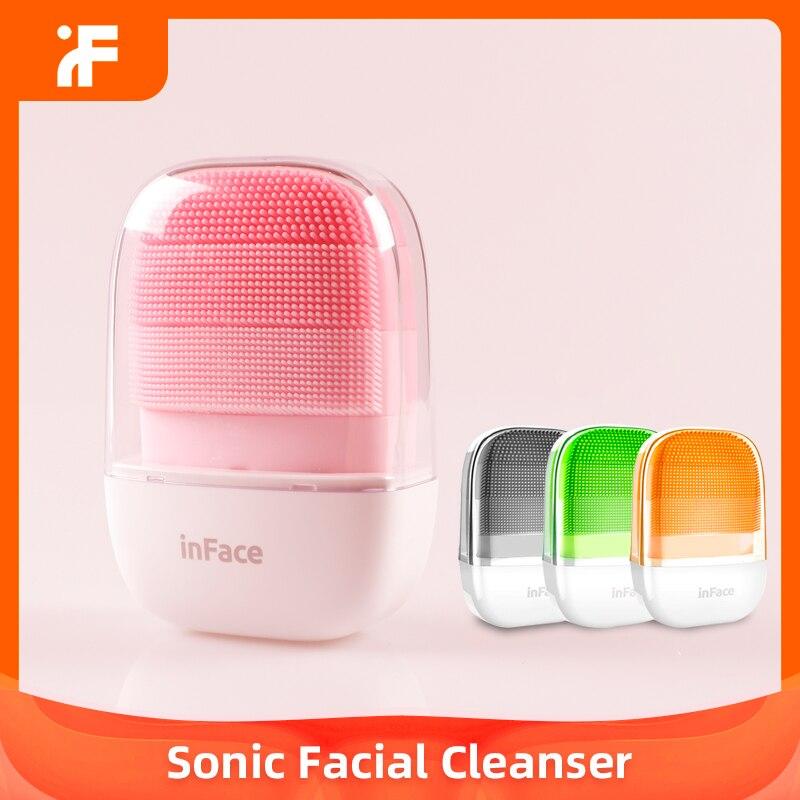 Xiaomi Chain inFace умная звуковая электрическая щетка для глубокой очистки лица, Массажная щетка для мытья лица, очиститель для ухода за лицом, пере...