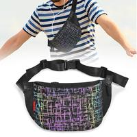 Fanny Packs , Luminous Holographic Waist Pack Sport Chest Bag Travel Bum Bags Running Pocket for Men Women