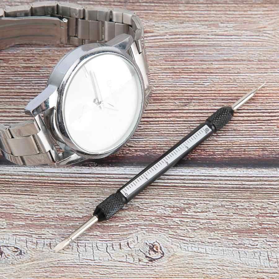 1 pieza nuevas herramientas profesionales de reparación Metal Barra de resorte doble correa de reloj removedor de eslabones herramienta de reparación de correa de reloj