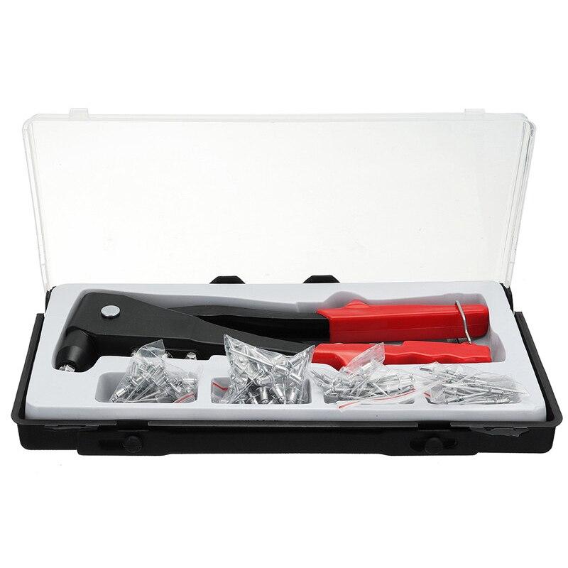 GTBL 101Pcs/Set Aluminum Blind Rivet Tool Heavy Nut Threaded Insert Hand Riveting Kit Rivet Nuts Nail Tool Household Repair Tool