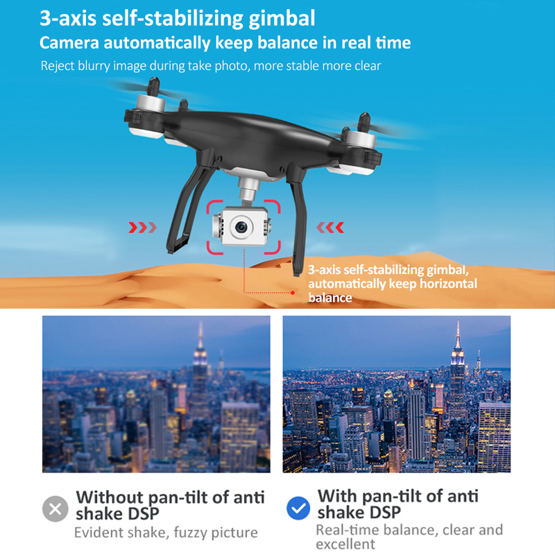Hot DealsLAUMOX Quadcopter Stabilizer Camera Drones-Gimbal Motor Profissional Brushless 4K Wifi