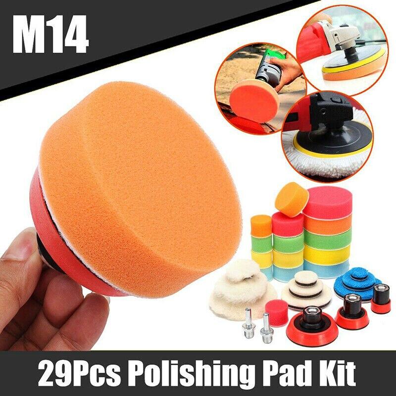 29 pcs esponja almofadas de polimento moagem 01