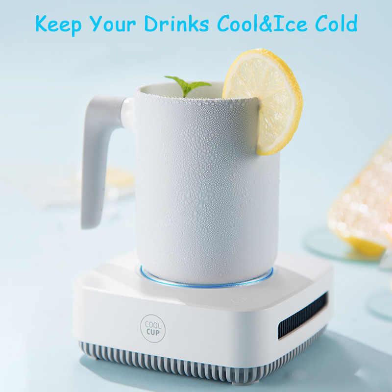 2 في 1 كوب برودة القهوة مدفأة للقدح ل مكتب مكتب منزلي استخدام التدفئة التبريد المشروبات لوحة للمياه الشاي المشروبات جعة الحليب الكاكاو
