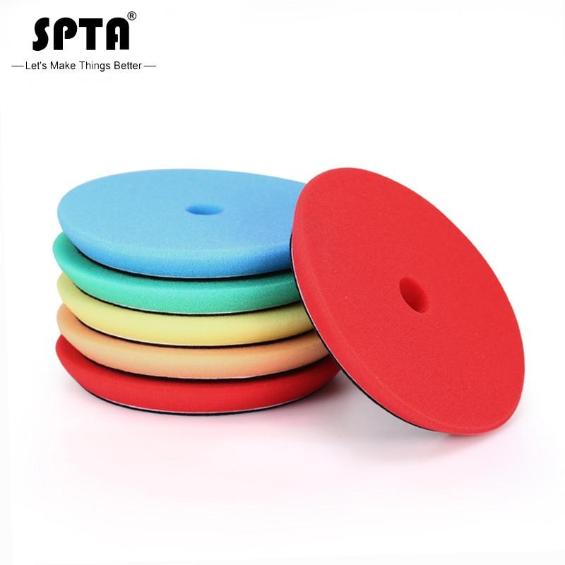 SPTA 6inch(150mm) Ultra-thin Light/Medium/Heavy Cut Sponge Foam Polishing Pads &Buffing Pads For 5