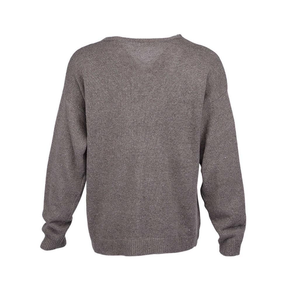 Женский Повседневный вязаный свитер с v-образным вырезом, пуловеры с длинными рукавами, свободный однотонный джемпер, новинка 2019, осенне-зимние модные женские Теплые Топы