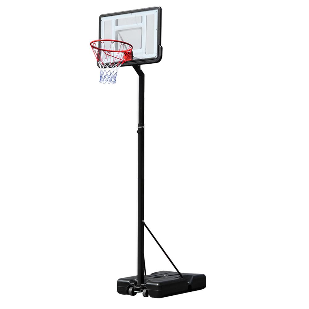 HY-B07N Portable Removable Basketball System Basketball Hoop Teenager PVC Transparent Backboard Adjustable-Height Pole