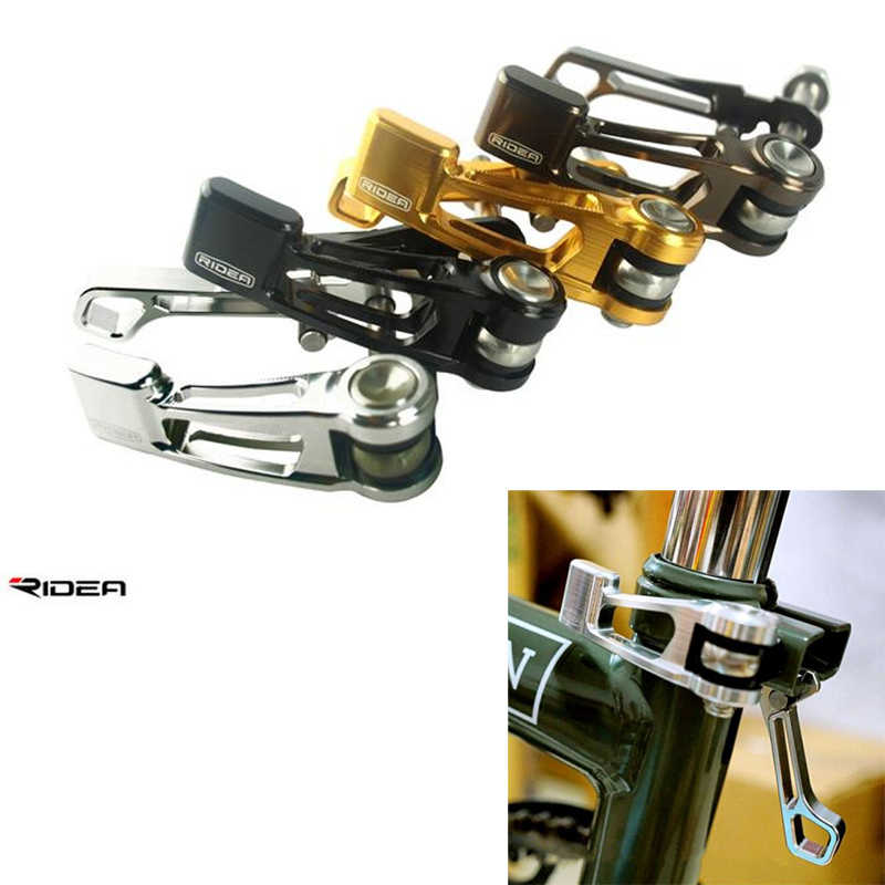 Clip Outdoor Titanium Alloy Bicycle Seat Post Clamp Quick Release For Brompton