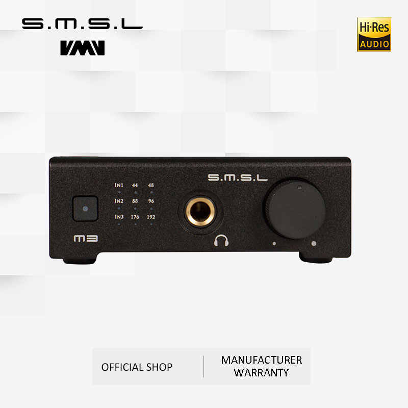 SMSL M3 USB DAC Amp Multi-Fungsi Optical Coaxial Headphone Amplifier Portable USB Powered Audio Decoder Portable DAC Konverter