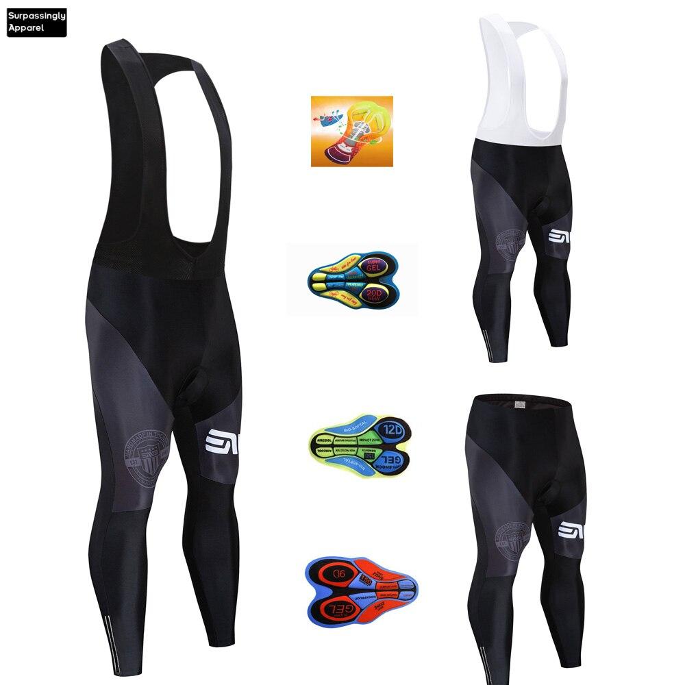 6XL Men Black Culotte Cycling Bib Pants Long Sleeve Coolmax 20D Gel Pad Bike Bib Tights Mtb Ropa Ciclismo Moisture Wicking Pants Cycling Bib Shorts     - title=