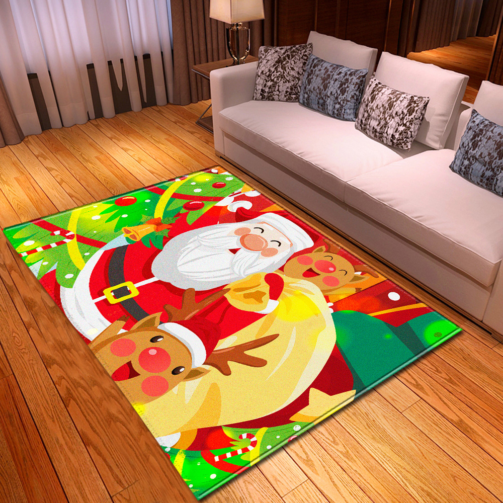 Christmas Party Carpets For Living Room Bedroom Area Rugs Home Decor Large Carpet Kids Room 3D Santa Claus Game Mats Child Gift