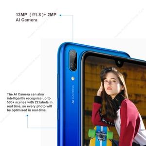 Image 2 - Huawei Y7 2019 Global Versie DUB LX1 Dual Sim Octacore Smartphone 3G 32G 4000 Mah 6.26 Inch Gezicht Id unlock Ai Camera Cellphone