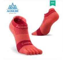 AONIJIE 1 Pairs Sport Socks Five Toed Barefoot  Running Cycling Hiking Jogging Shoes Marathon Race For Men Women