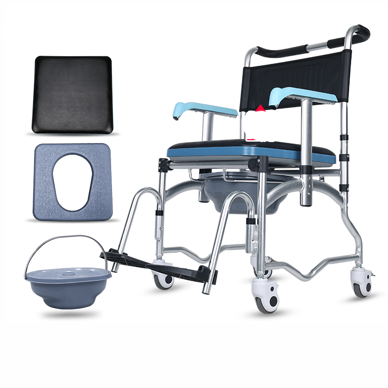 The Elderly Sit Toilet Chair Belt Round Foldable Old Age Pedestal Pan Disabled Household Adult Move Closestool Sit Then