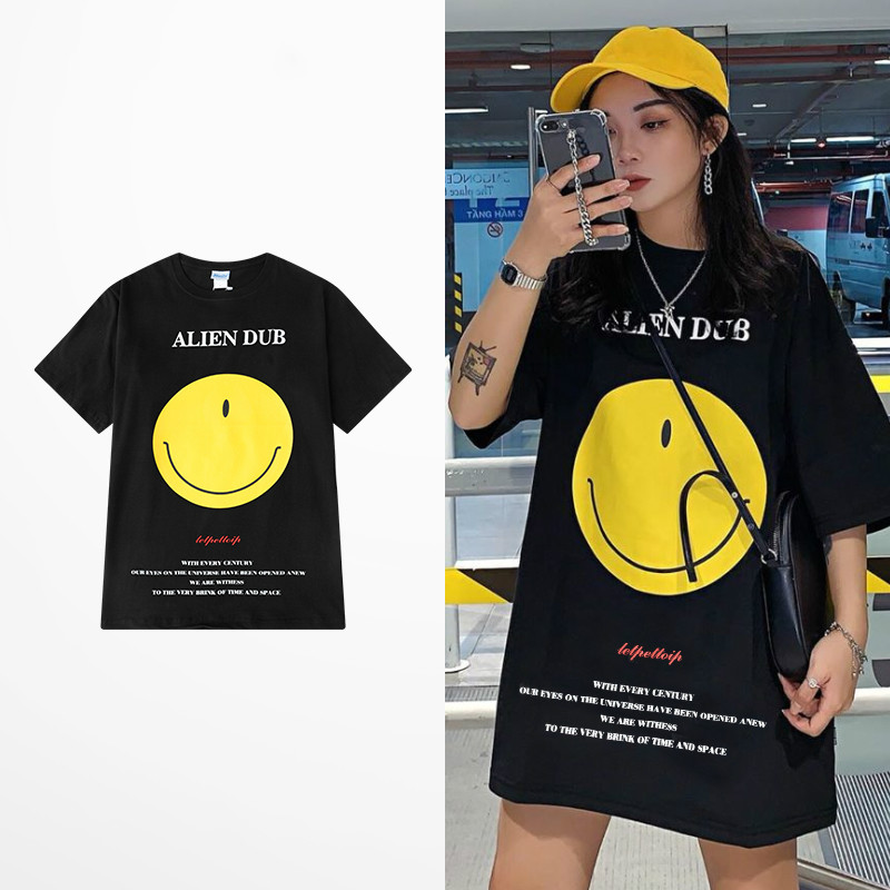 Fashion Design Cartoon Smile Face Funny Print T Shirt Summer 100 Cotton T Shirts Men Hip Hop Lovers Couple Tee Shirt Homme T Shirts Aliexpress