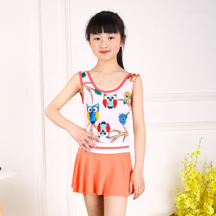 Girl'S Swimsuit 2019 New Style One-piece Cartoon Princess Dress-Cute South Korea Kids Children Tour Bathing Suit Wholesale