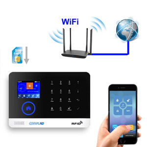 Image 5 - Wifi GSM APP RFID Wirelesss home security gsm alarm system touch keyboard 433MHz door detector infrared sensor alarm PG 103 W2B