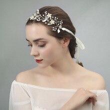 Le liin, новинка, ручная работа, для волос, со свадебным кристаллом, сплав, украшение на голову, модное украшение для волос, свадебная повязка на голову