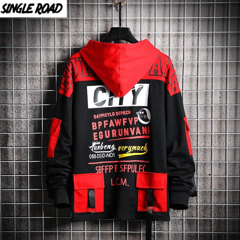 SingleRoad Mens Hoodies Men 2019 Autumn Sweatshirt Male Hip Hop Harajuku Japanese Streetwear Black Hoodie Men Sweatshirts Man