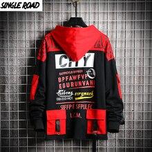 Singload męskie bluzy męskie 2020 wiosenna bluza męska Hip Hop Harajuku japońska moda uliczna czarna bluza z kapturem męskie bluzy męskie