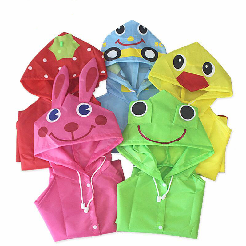 PPXX Cartoon Children Raincoat Kid Jacket Waterproof Outfit Rain Cover Baby Kids Poncho Cloak Hoody Coat Toddler 1