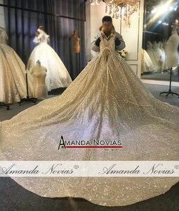 Image 3 - 2020 יוקרה ואגלי חתונת שמלת רצועות אמיתי עבודה סדר מותאם אישית