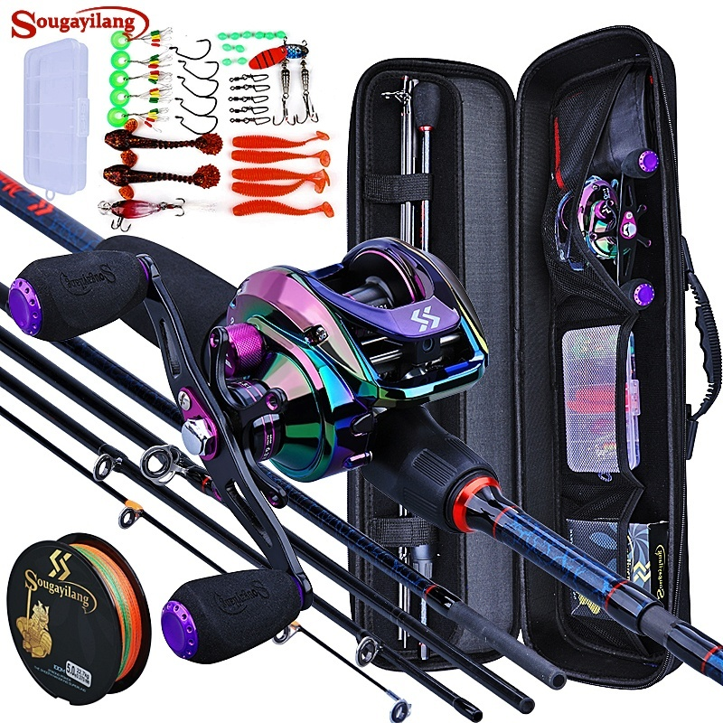 Fishing Rod and Reel 5 Section Travel Set.  Free shipping 1