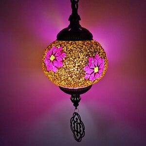 Image 4 - WOERFU Mosaico Lampade A Sospensione Turco Retro Illuminazione E27 Bar Ristorante Chiaro Bar Luce Del Pendente Mediterraneo