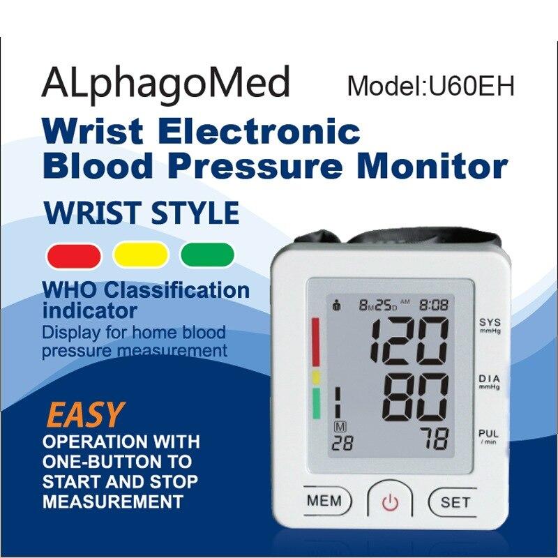 Recargable digitale blutdruckmessgerät blutdruck monitor gerät Handgelenk manschette tonometer meter medizinische ausrüstung maschine