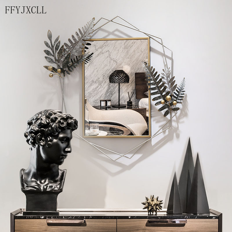 French Simple Living Room Dining, Decorative Wall Mirror For Dining Room