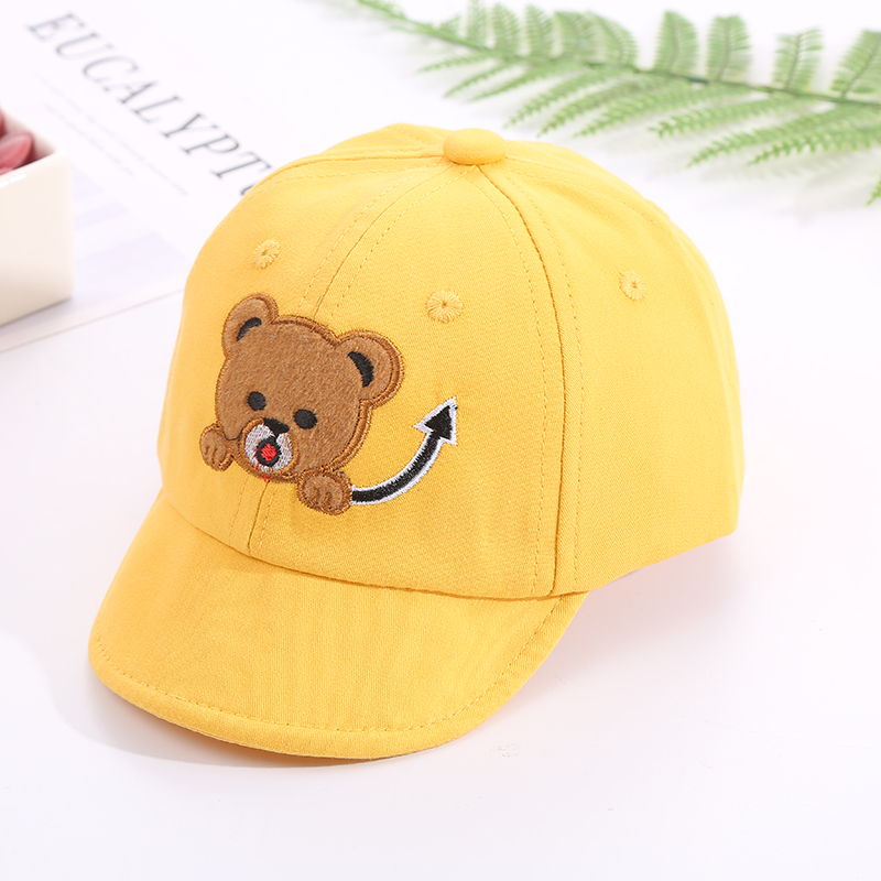 Hcddf9cbf96f341c8a9c68ec8120d08cez - Baby Hat Cute Bear Embroidered Kids Girl Boy Caps Cotton Adjustable Newborn Baseball Cap Infant Toddler Beach Outdoor Sun Hat