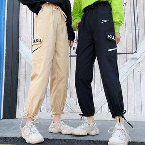 Image 2 - מכנסיים נשים באיכות גבוהה מטען קרסול אורך מכנסיים רך Harajuku קוריאני סגנון נשים טרנדי מוצק כיסים מקרית כל משחק חדש