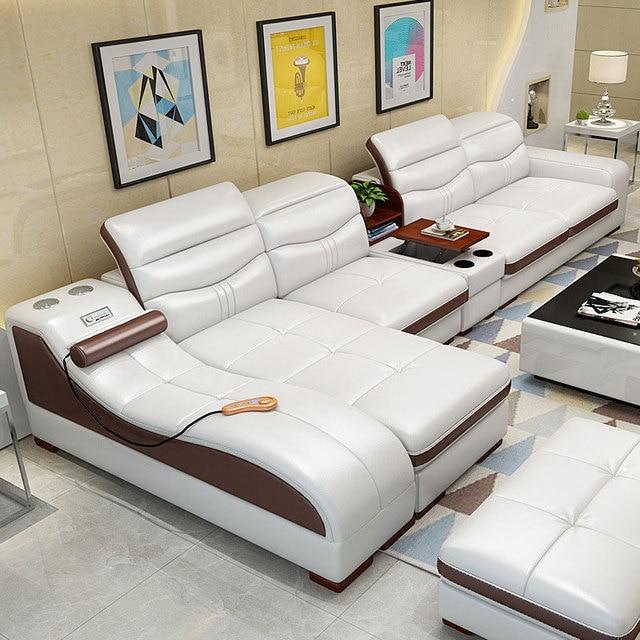 EZ-home Modern simple leather multi-functional sofa 6